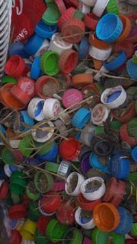Tampas de garrafa pet