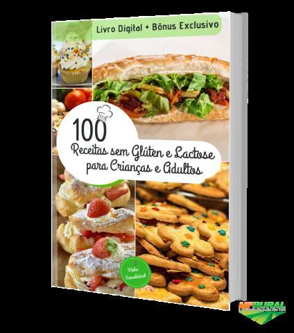 Livro 100 Receitas Sem Glúten e Lactose