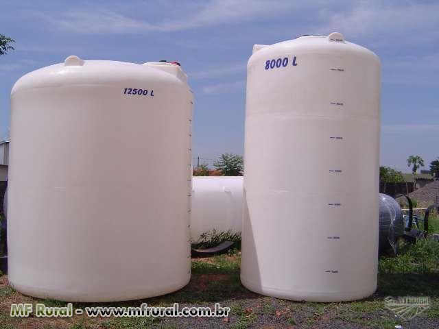 Tanque vertical fundo plano em polietileno capacidades for Tanques de agua medidas