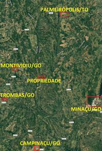 Fazenda em Trombas/GO 242ha - 4 córregos permanentes e 145ha de Pasto. Água encanada. Luz. Curral