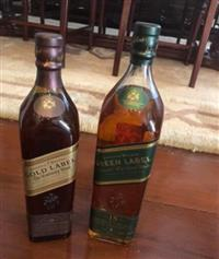 Wisky original blue label+gold label+green label