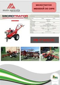 Trator Tobata Mini/Micro 4x2 ano 18