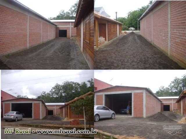 Pavilhões pré-moldados Mistos, Metálica, Concreto e Pisos Cimenticios Cordone.
