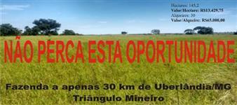 Fazenda em Uberl�ndia, imperd�vel, apenas R$13.450,00/hectare