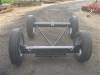 """Conjunto de Eixo da Carreta Acton 4 rodas, montado com rodas e pneus 7.50 x 16"""""""