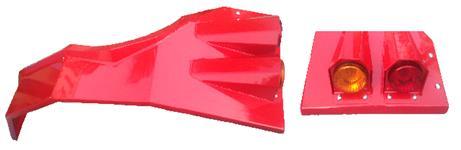 PARALAMA EM CHAPA 3MM PARA TRATORES MASSEY CABINADO 4275/4283/4290/4291/4292/4297/4299 COM LANTERNA
