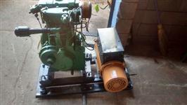 Gerador de energia Kohlbach acoplado com motor agrale