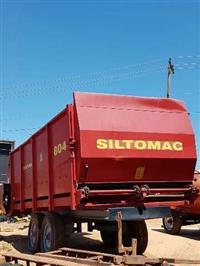 Vagão forrageiro Siltomac modelo 804, 8 metros cúbicos, tander, usado