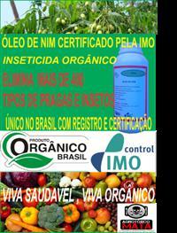 ÓLEO DE NIM PURO - ÚNICO PRODUTO NO MERCADO COM CERTIFICAÇÃO ORGÂNICA PELA IMO