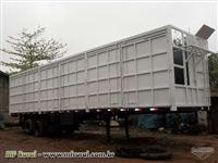 Gaiola para transporte de bagaço de cana