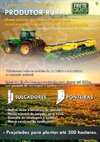 Ponteiras do Sulcador p/ plantadeiras e semeadeiras