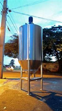 Misturador em aço inox 304 vol 800 litros com variador de frequência WEG CFW 10