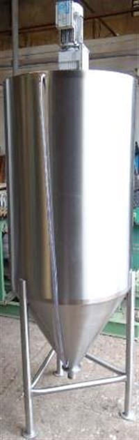 Tanque misturador inox 304 volume 800 litros com misturador motoredutor 1,5 CV