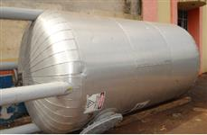 Tanque para água gelada, vol 7000 l, isotérmico, fibra de vidro revestido