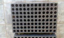 tubetes 100cm3 e bandejas 96 celulas