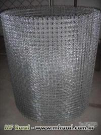 TELA ONDULADA - Fabricada em diversas malhas em arame galvanizado