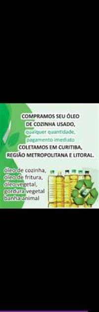 Compro óleo e gordura de fritura usado