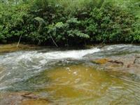 Chacara com Corredeira e Igarape com pequenas cachoeiras.