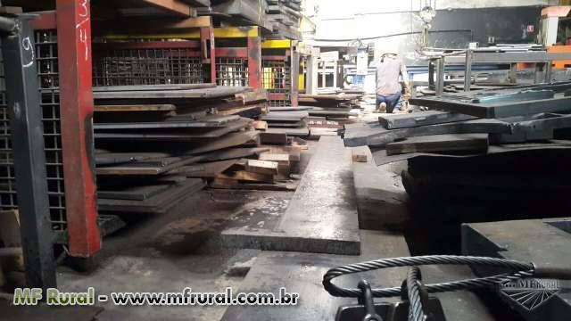 LOTE DE CHAPAS - Espessuras diversas - A partir de R$ 1,40/kg