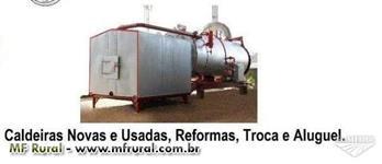 Caldeira usada a pronta entrega, de 30 a 18.000kg vapor/hora. Financiamento fácil e rápido.