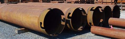 Tubos Estacas e Fundações de 6 a 60 polegas