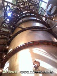 Destilaria/Coluna para 100 000 litros de Aguardente