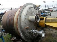 Reator em aço inox 316L encamisado com meia cana