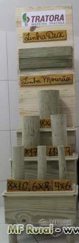 Mourão de eucalipto tratado apontado