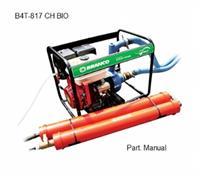 Motobomba B4T-817 chorume bio - Branco - Centrífuga - Partida manual/elétrica