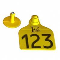Brinco de Identificação para Bovinos - Numerado e Personalizado + Macho (Pacote com 25 unidades)