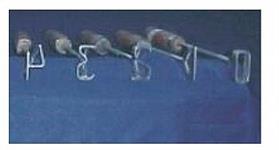 Jogo de números - Marcadores de gado -  5 a 7cm - (ABCZ/Normal)