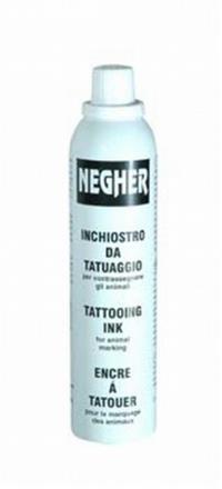 Tinta para tatuadeira Spray Negher 300ml - Preta
