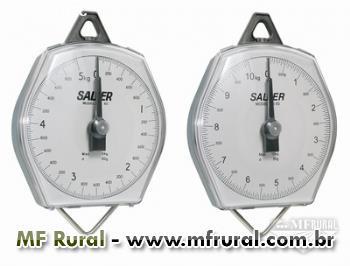 Balança mecânica - Suspensa - Visor tipo relógio - 5kg/10kg Salter