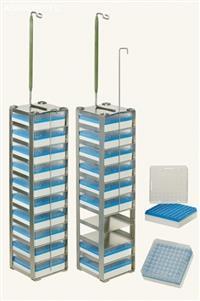 Rack quadrada com gavetas para Criotubos - Botijões YDS 120-216 e YDS 175-216