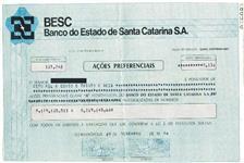 VENDO CARTULAS DE AÇÕES DO BESC