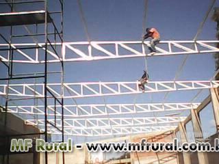 Galpões Metálicos, Barracões metálicos, Estruturas  metálicas, mezaninos e escadas metálicas...