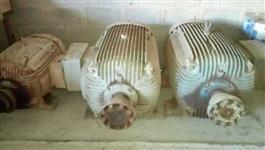 Motores eletricos trifasicos 75 e 150 cv, lote de 5 motores