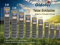TELA SOLDADA MALHA 5 X 15 ARAME 2,76 MM
