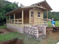 Casa e chale pre fabricada de madeira tratada