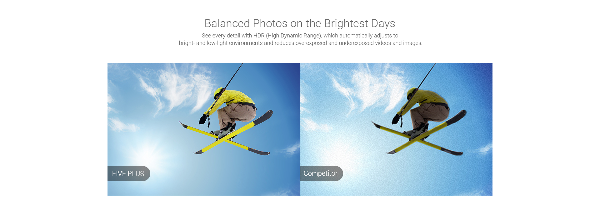 Balanced Photos on the Brightest Days