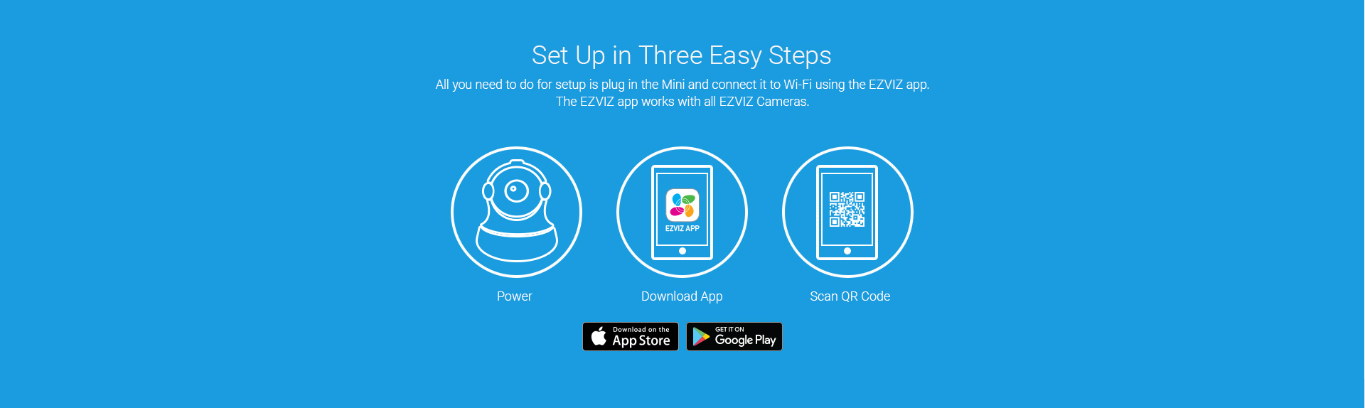 EZVIZ Mini 360 Wi-Fi Cloud Camera - 720p Pan and Tilt