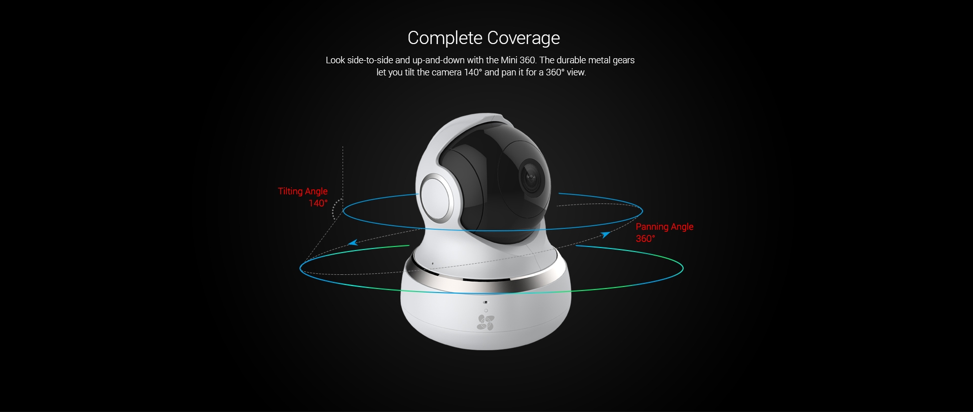 ezviz mini 360 wi fi cloud 720p pan and tilt