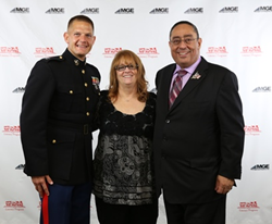 Judy and Luis Colon with Captain Joseph Dreager - MGE Management Experts