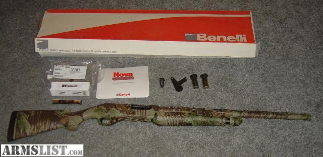 Armslist for sale benelli nova camo w recoil reducer