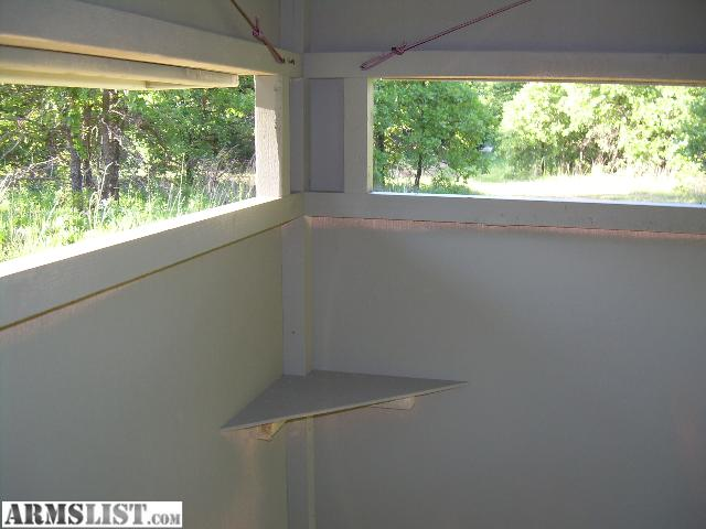 Armslist for sale deer stand blinds for Building deer blind windows