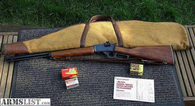 Armslist for sale marlin 1894m 22 magnum lever action rifle w