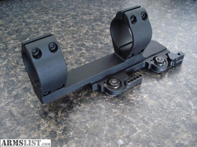 It was mounted on a rifle that didn't get much use, its in like new  condition 30 mm LaRue Tactical SPR / M4 Scope Mount QD LT104