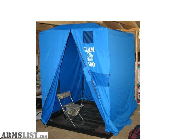 Armslist for sale trade clam 5600 portable fish house for Cheap ice fishing shelters