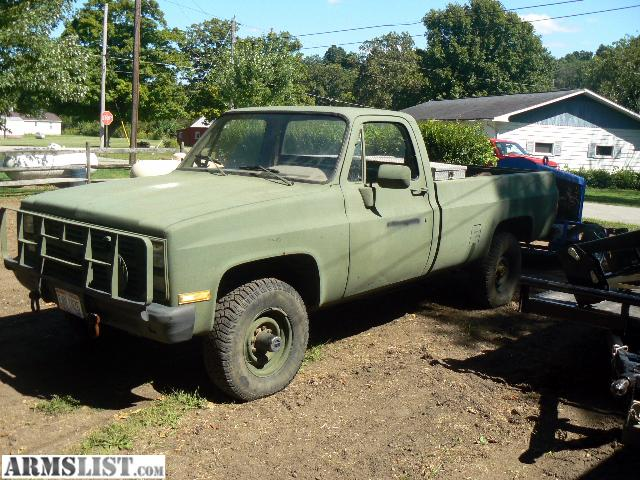 ARMSLIST For Sale Chevy 1986 M1008 CUCV Military 4X4