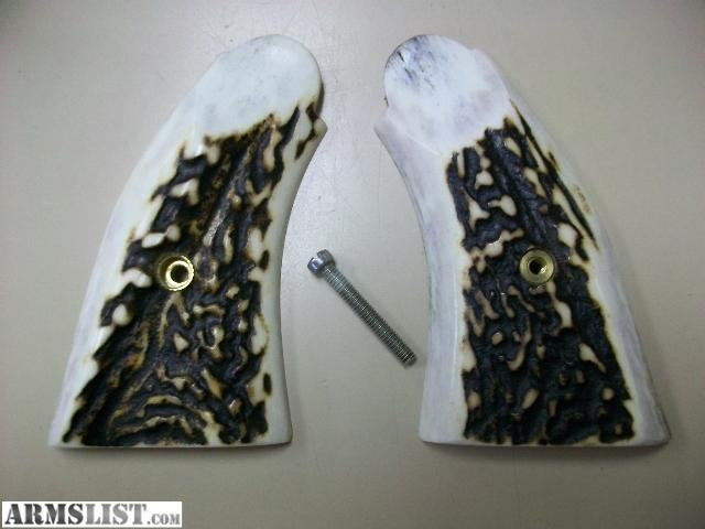 Wonderful Very Nice Grips For The Smith U0026 Wesson K  Frame Revolvers. In Excellent  Condition With Screw, I Believe These Are Elk Stag.